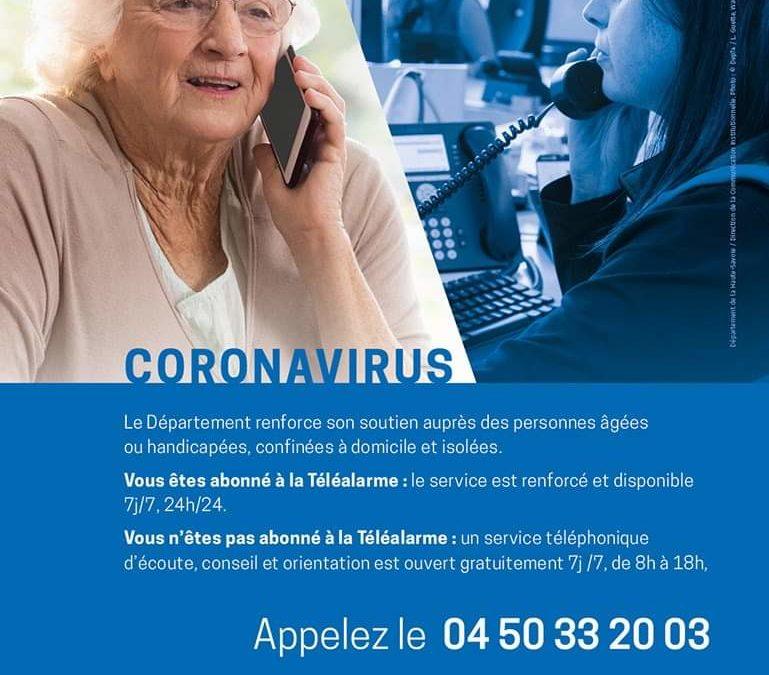 Service téléphonique de soutien aux personnes âgées et handicapées